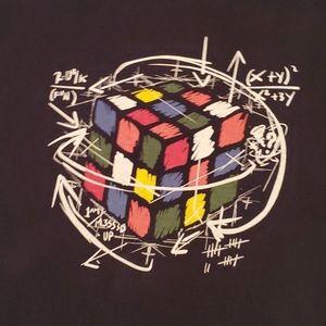 Gildan Shirts - Rubix Cube Men's Medium M short sleeve geek Math